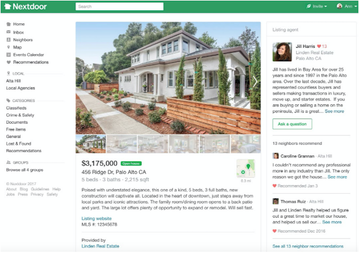 Nextdoor rolling out agent ads, property listings